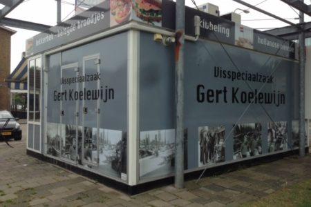 belettering kiosk Gert Koelewijn