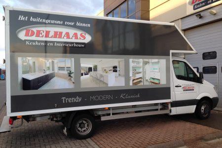 vrachtwagen Delhaas Interieurbouw