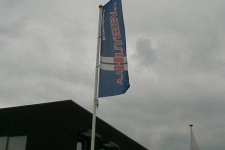 vlaggenmast Huygen